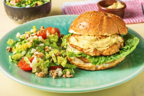 Snelle recepten - Kipburger met vadouvanmayonaise
