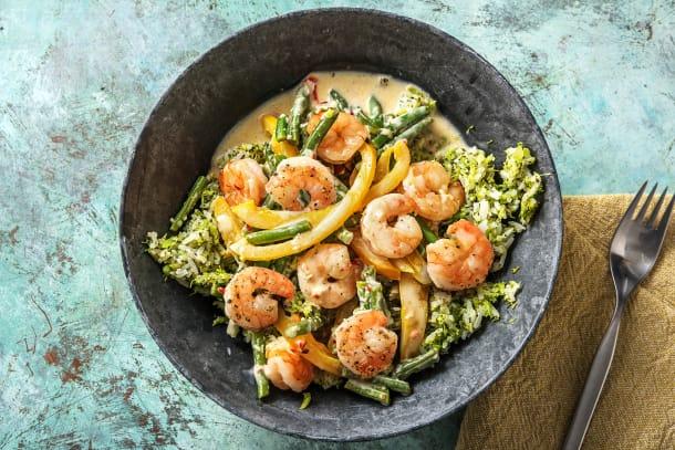 Curry aux crevettes express
