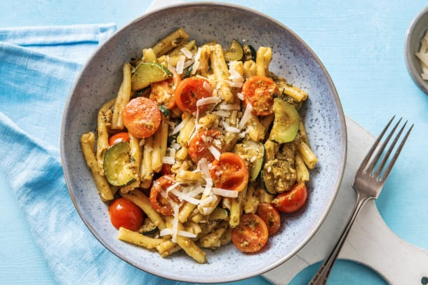 Snelle recepten - Casarecce met pesto en courgette