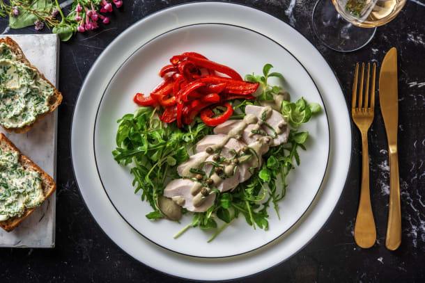 Poulet poché sauce au thon