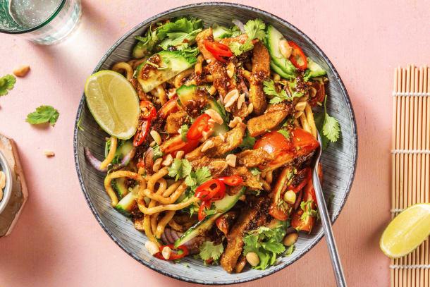 Salade thaïlandaise aux lanières végétariennes