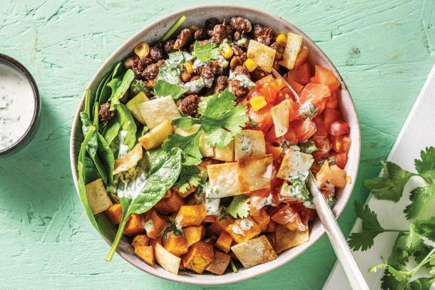 Mexican Black Bean & Kumara Salad