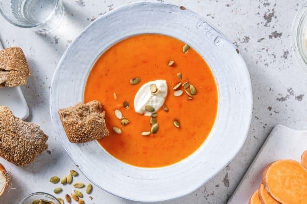 Soupe de poivron et patate douce