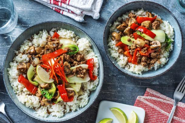 Asiatisches Rindfleisch mit Pilzen