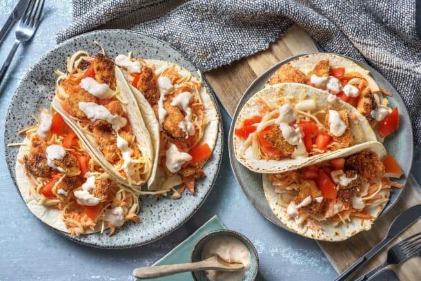 Recettes rapides - Mini-tortillas au poulet croquant et chutney de mangue