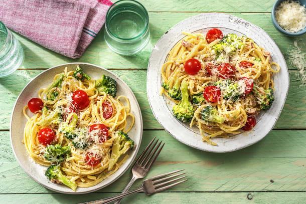 Blitzschnelle Pasta nach Carbonara-Art