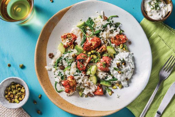 Tandoori Cauliflower & Spinach Rice Pilaf