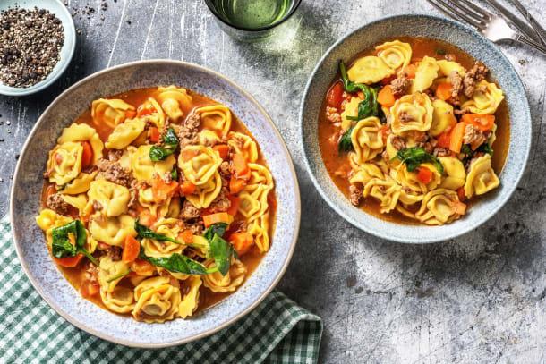 Schnelle Tortellini-Suppe