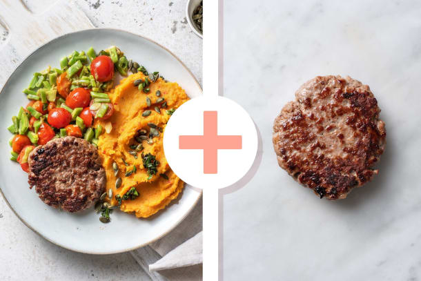 Recettes rapides - Steak haché en double portion et purée de patates douces piquantes