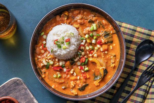Schnelle Gerichte - Afrikanischer Erdnusseintopf