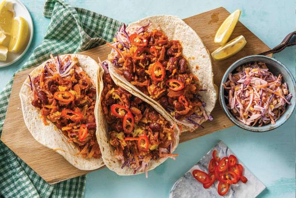 American BBQ Bean Tacos