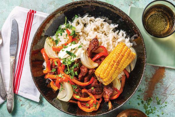 American Beef Bowl & Smokey Corn Cobs