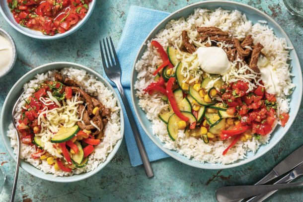 American Beef & Veggie Rice Bowl