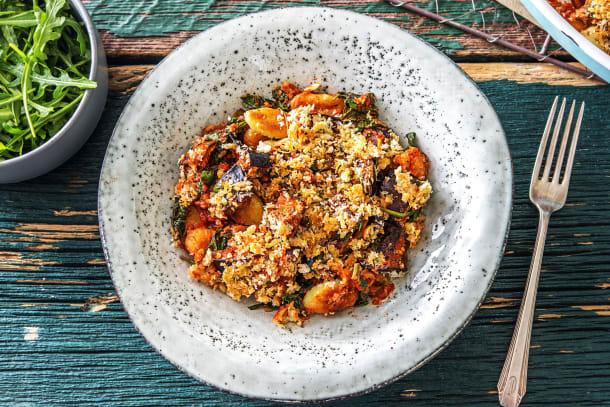 Vegetarian Recipes - Aubergine Gnocchi Gratin