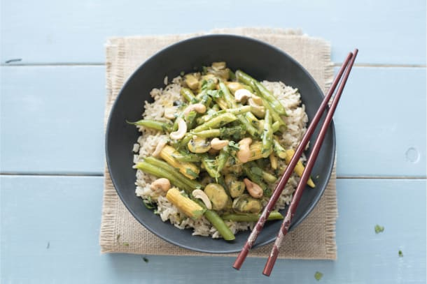 Baby Corn and Green Bean Curry