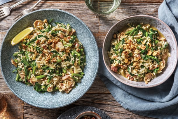 Basil Pesto & Bacon Risotto