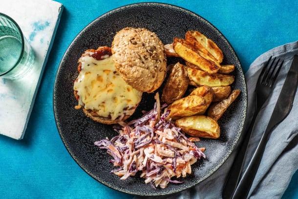 Quick Meals - BBQ Sausage Cheeseburger