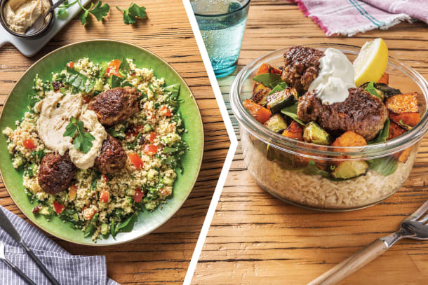 Beef Koftas & Tabbouleh Couscous for Dinner