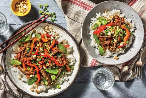 Mongolian Beef & Snow Pea Stir-Fry