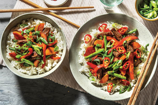 Ginger-Soy Beef & Snow Pea Stir-Fry
