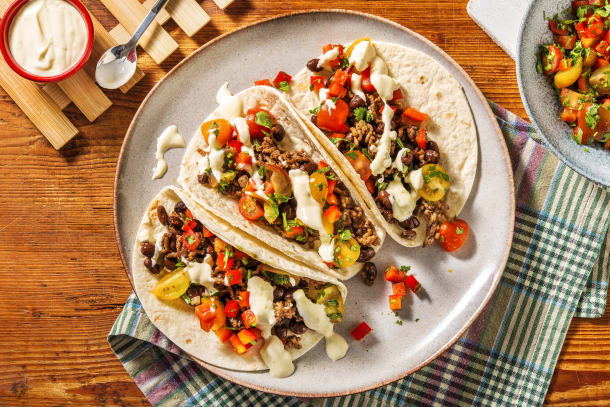 Quick Dinner Ideas - Beyond Meat® and Black Bean Tacos