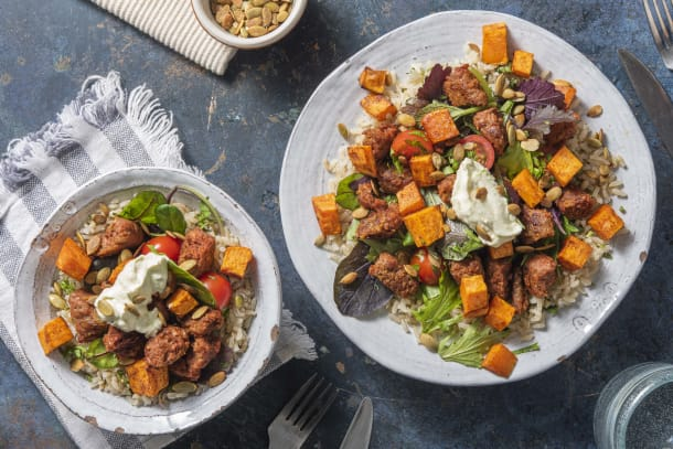 Beyond Meat® and Sweet Potato Bowl