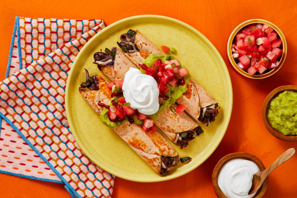 Quick meals - Black Bean and Poblano Flautas