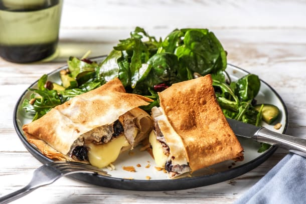 Quick Dinner Ideas - Blueberry-Balsamic Baked Brie in Phyllo