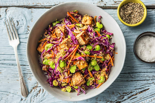 Golden Tofu and Quinoa Bowl