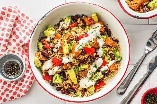 Vegetarian Recipes - Brown Rice Burrito Bake
