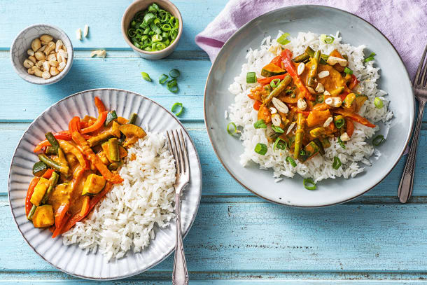Bunt und lecker: Gemüse-Kokos-Curry
