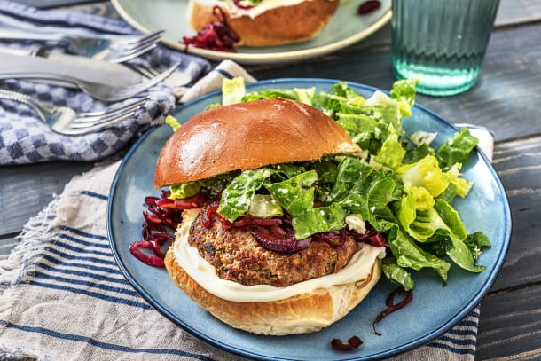 Minted Lamb and Feta Burger