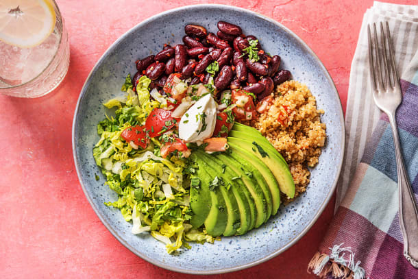 Schnelle Gerichte - Burrito Bowl! Tomaten-Quinoa