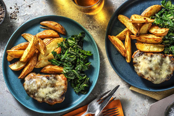 Low Calorie Meals - Cheese & Caramelised Onion Pork Steaks