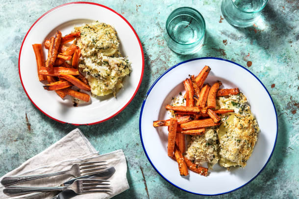 Cheesy Fish & Potato Gratin