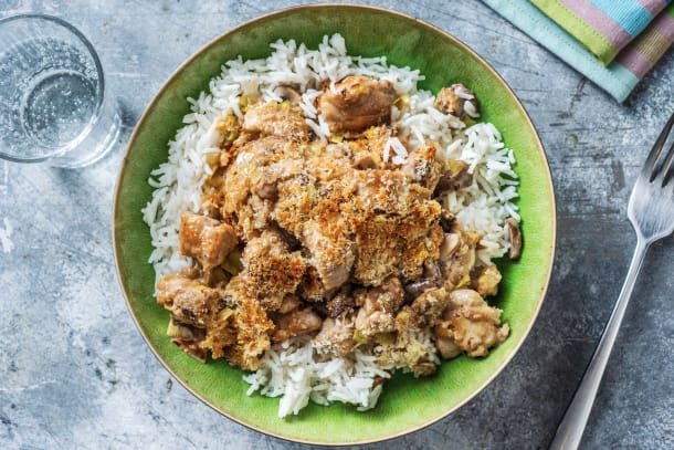Quick Meals - Chicken and Mushroom Crumble