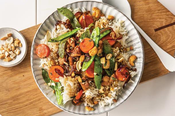 Speedy Thai Chicken and Cashew Stir-Fry