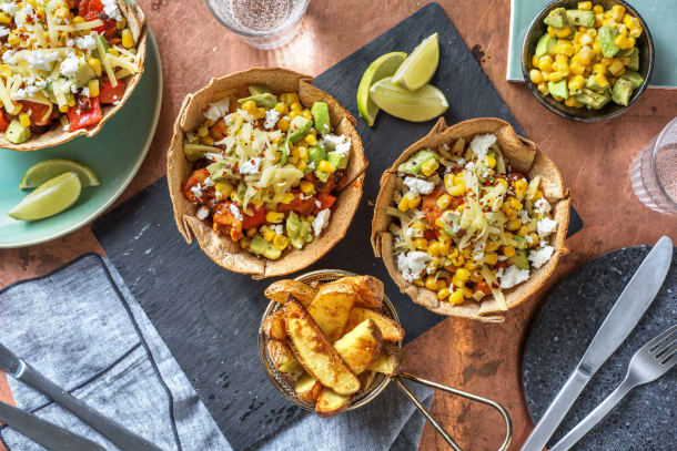 Double Cheese Chicken Fajita Taco Bowl