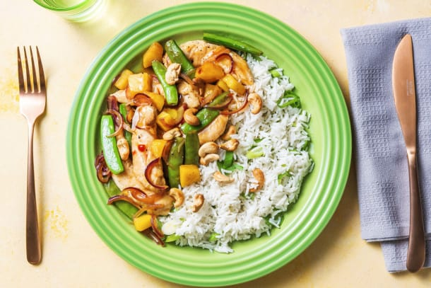 Chicken, Sweet Pea and Pineapple Stir-fry