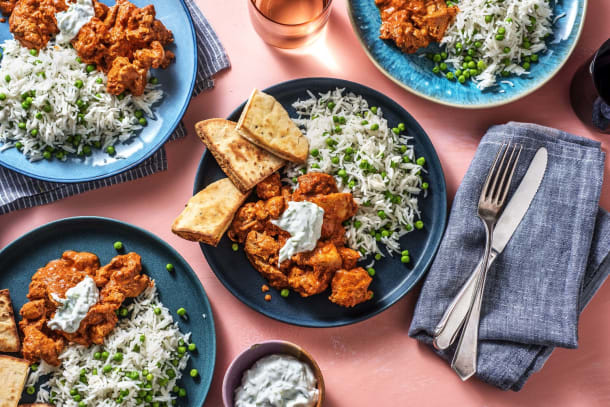 Chicken Tandoori-Style with Pea Pilau