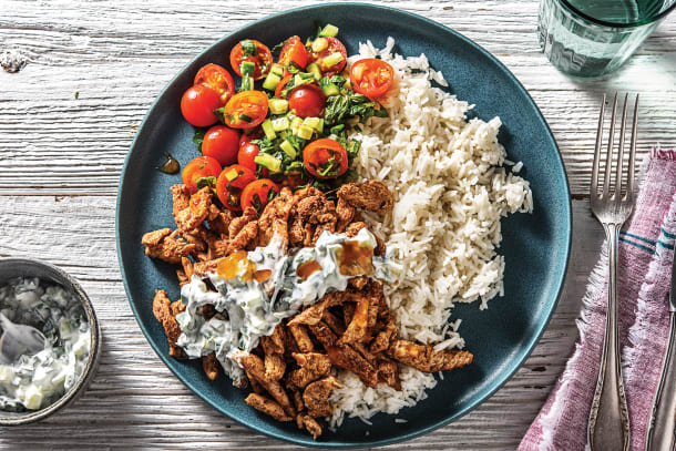 Chicken Tikka & Garlic Rice