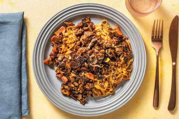 Schnelle Gerichte - Chilinudeln mit Rinderhack und Hoisin