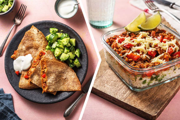 Chilli Beef Quesadillas Dinner