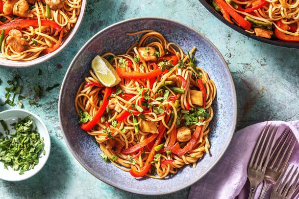 Spicy Chilli Chicken & Vegetable Noodles