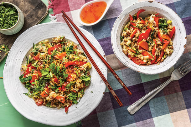 Chinese Ginger Beef Fried Rice