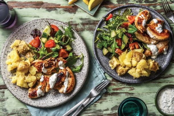 Family favourites - Christine's Chicken & Crushed Lemon Potatoes
