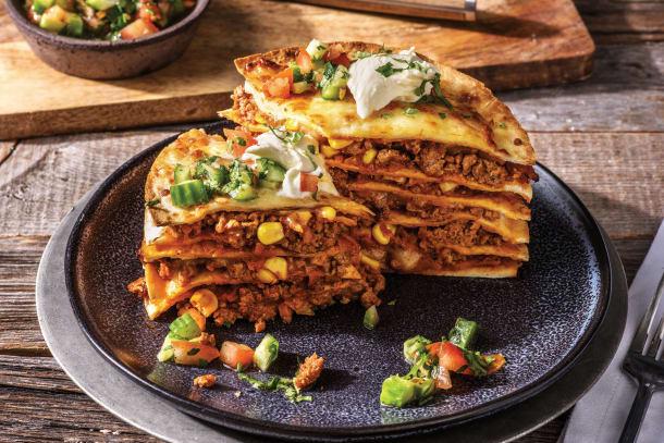Clark's Mexican Beef Tortilla Stack