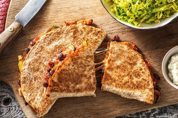 Vegetarian Recipes - Courgette Quesadillas