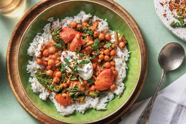 Quick Meals - Creamy Indian Chicken & Chickpea Curry