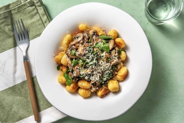 Low Calorie Meals - Creamy Mushroom Gnocchi